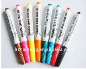 CH-5182 washable or non washable ink fabric marker pen colorful permanent fabric marker, non-toxic Ink marker pen