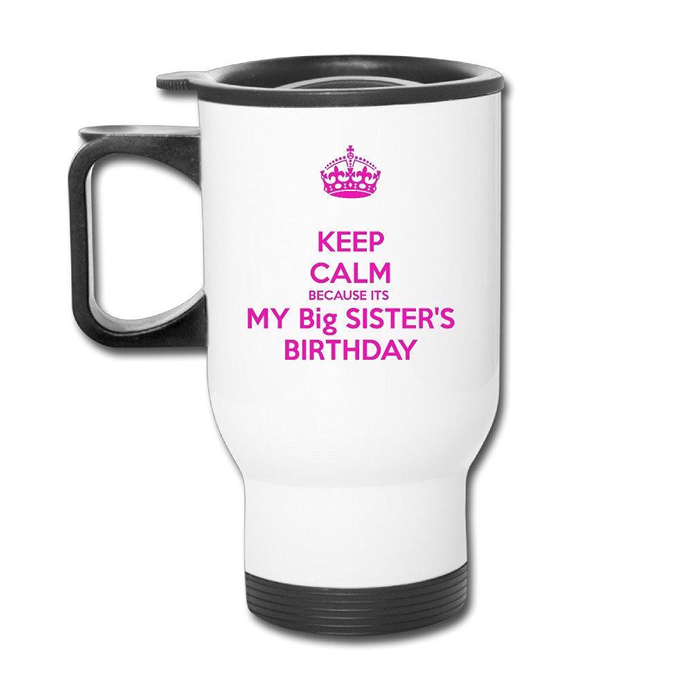 Buy Vgd Big Sister Birthday Quotes Gift Keep Calm Travel ...