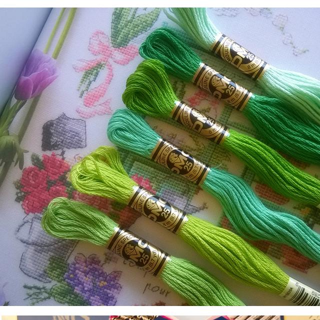 Thread 447 Pieces/bag Original French DMC Thread Embroidery Cross Stitch Floss Yarn Thread 8.7 Yard Length 6 Strands
