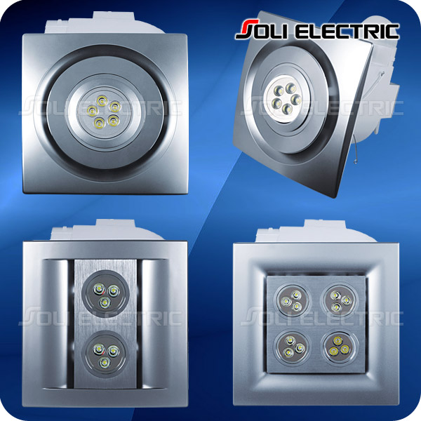 Extractor Baño Falso Techo:LED Kitchen Ceiling Exhaust Bathroom Fan with Light