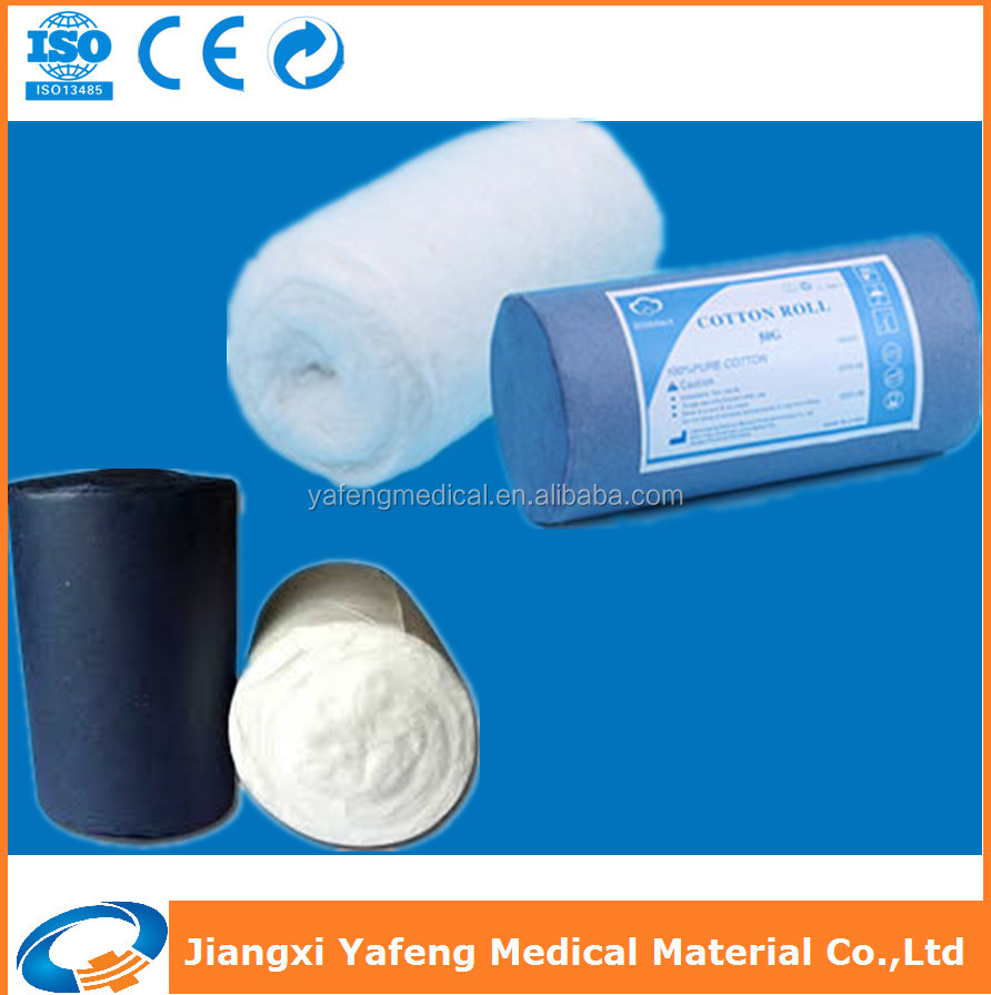 Medical materials wound dressing cotton wool roll