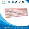 Ultra Slim Portable Mini Wireless Bluetooth Keyboard With Large Size Touchpad Mouse,Stainless Steel Back Cover For PC