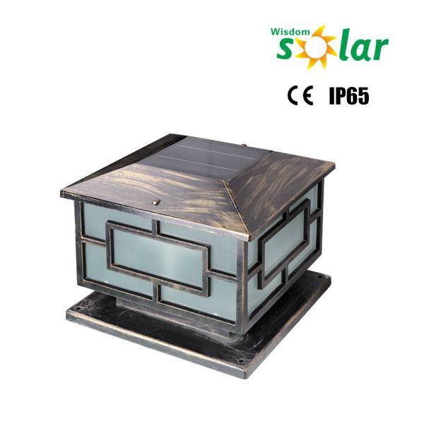 Wisdom Solar Oem Solar Powered Solar Main Gate Light Outdoor Pillar Light Jr 3018