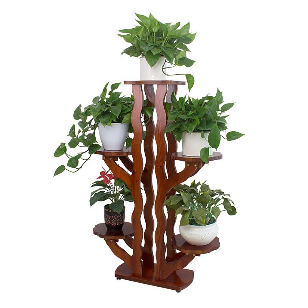 Get Quotations Xiaolin Wooden Balcony Flower Stand Floor Type Living Room Indoor Chinese Multi Layer