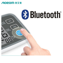 Free APP for IOS Android standing BLE 4.0 wide LCD screen arm digital bluetooth blood pressure monitor high sale