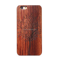 PC royal retro wood grain luxury slim mobile phone cases for iphone 6