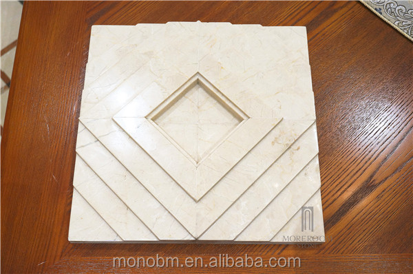 Moreroom piedra marmol crema baiyulan cnc diseño beige 3d talla de ...