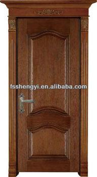 Classic Design Crown Molding On Top Single Door
