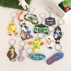 Custom Made Keychain Soft pvc rubber keychain 3D Key Chain key ring customize shape and logo