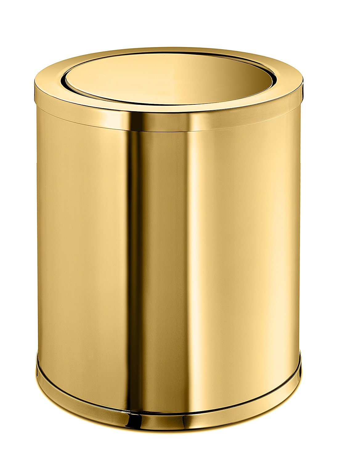 Get Quotations W Luxury Lisa Round Wastebasket Trash Can For Bathroom Kitchen Swing Lid