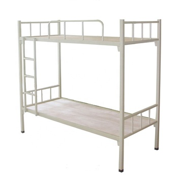 Heavy Duty Double Metal Frame Military Bunk Bed For Hostel