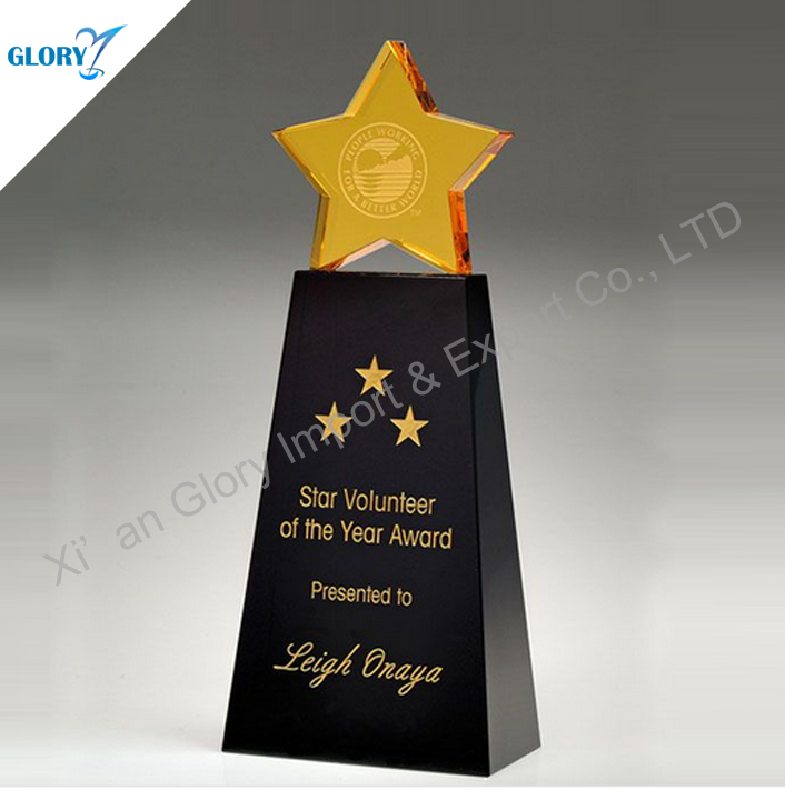 Customized Shiny Crystal Rising Star Award Images