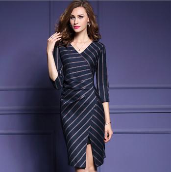 2016 Sleeves Black Formal Office Dress Career Women With Belt
