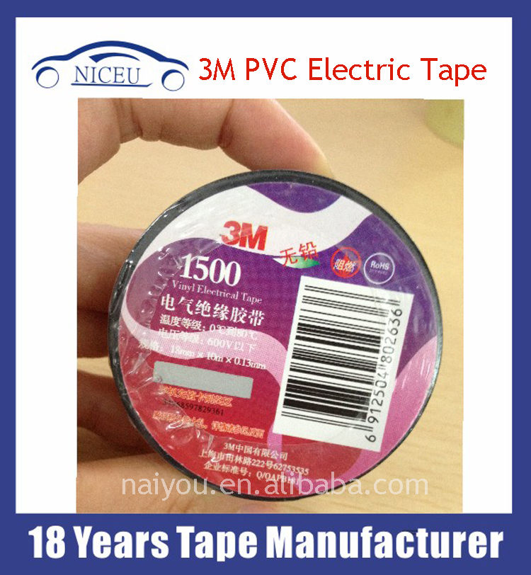 Super A grade waterproof pvc insulation tape 3m vinyl electrical tape
