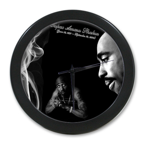 Original <font><b>Home</b></font> <font><b>Decoration</b></font> Customized 2pac <font><b>Elegant</b></font> Wall Clock Modern Design Watch Wall Free Shipping