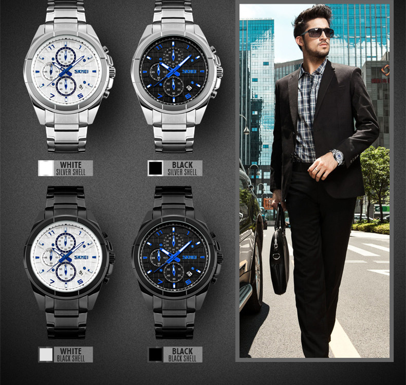 304 stainless steel coolest relogio masculino chrono quartz watch
