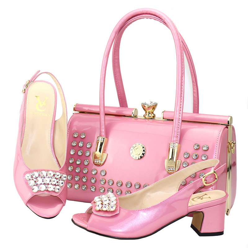 3f3746361f High quality wine African designer Italian high heel shoes and bag set to  match women for Nigeria party