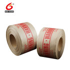 custom logo printed water activated brown kraft paper fiber reinforced gummed packing tape