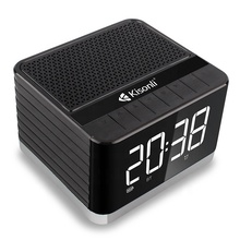 Kreatif Mini BT Wireless Portabel <span class=keywords><strong>BOOMBOX</strong></span> Alarm Clock Speaker dengan TF/FM/USB/<span class=keywords><strong>LCD</strong></span> Fungsi