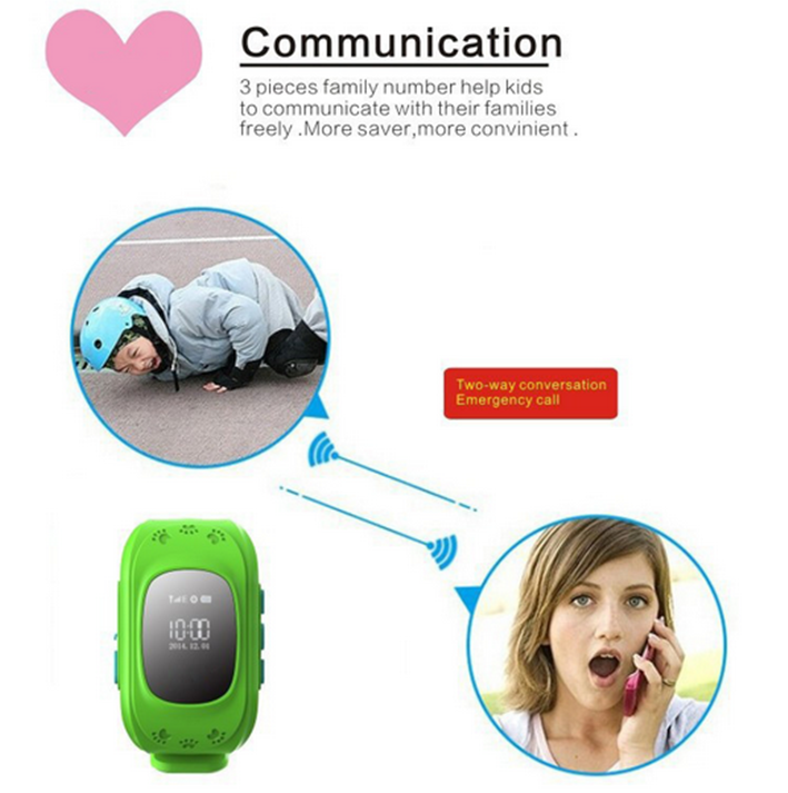 New Products 2016 GPS Tracker Q50 Kids GPS Smart Watch For Children wrist watch gps tracking device