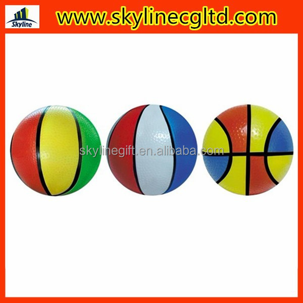 multicolor small basketball colorful PVC Pump up the basketball