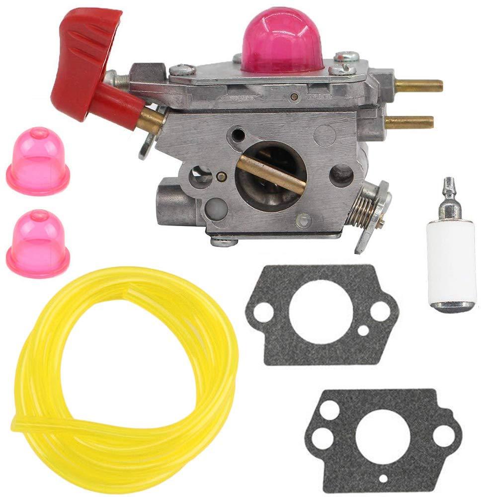 Get Quotations · KingFurt Carburetor Kit for Poulan BVM200FE Gas Blower  Fuel Filter Replaces 545081857 C1U-W43B C1U