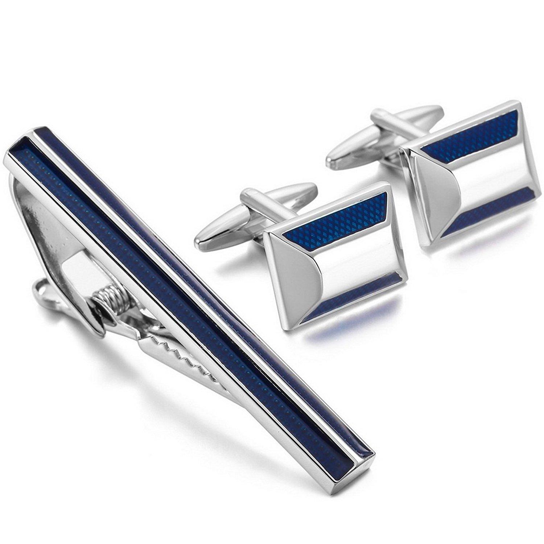 Sterling Silver Rhodium-plated CZ Tie Bar