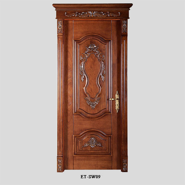 Luxury Design Carving Flower Latest Design Wooden Doors