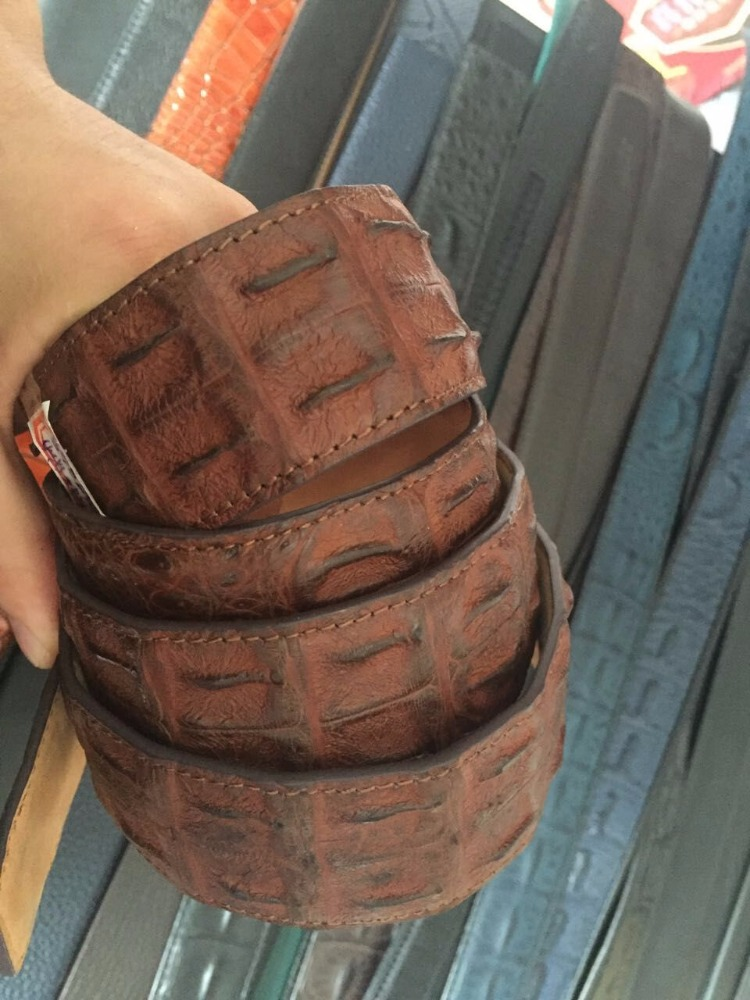 Custom crocodile golf belt