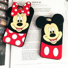 2016hot sales 3D Mickey Minnie Silicone Phone Case For Samsung J5/J7