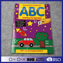learning the alphabet coloring and sticker book