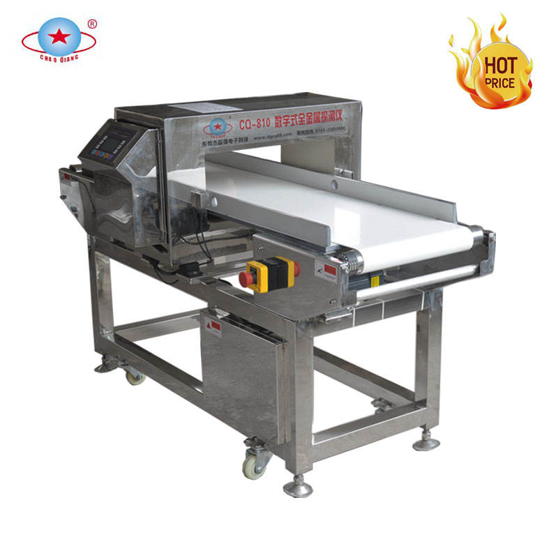 Combination check weigher and metal detector for food industry