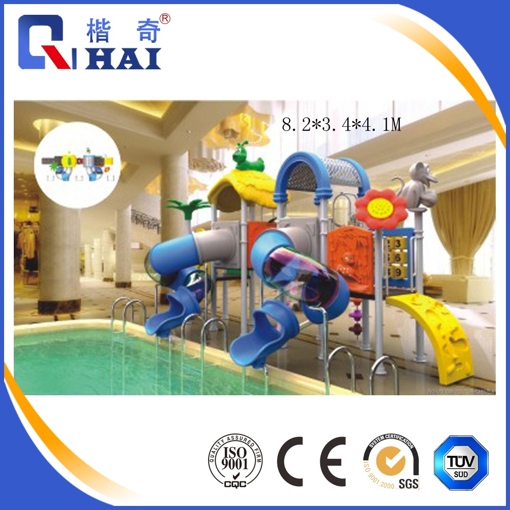 Hot sale Aqua Park, swing pool water slide playground, lager water park play equipment fiberglass water slides