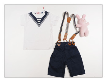 New Boys Sailor Outfits Kids Fashion Summer Clothing Sets Baby ...