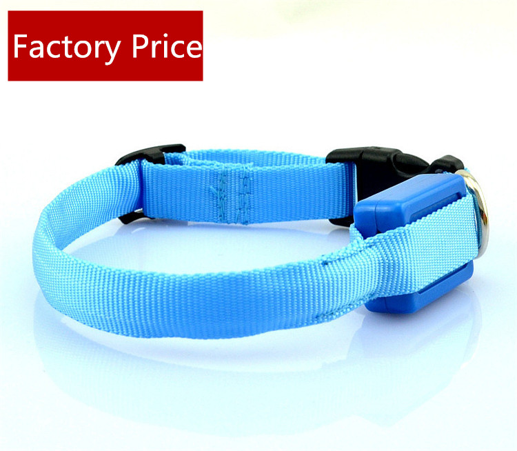 Collar LED Nylon Light-up Flashing Leash Glow for <strong>Dogs</strong>
