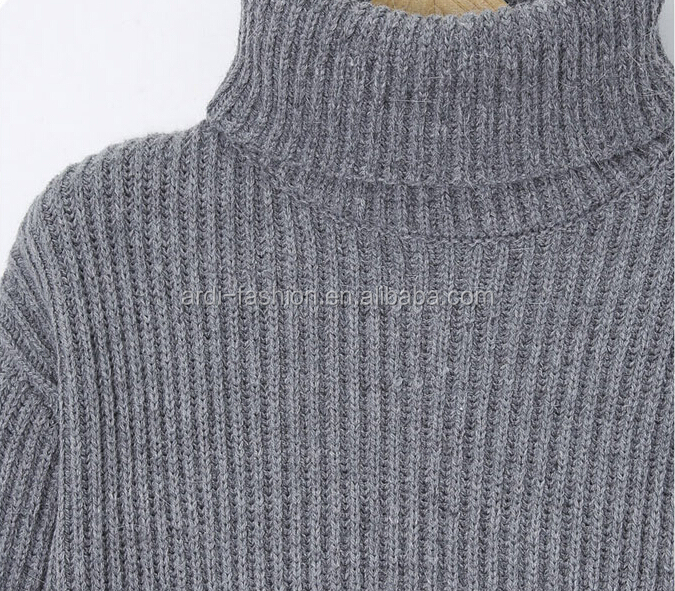 ad3c5e63542 Wholesale Plus Size Turtleneck Rib Knitted Middle Age Women Sweater ...