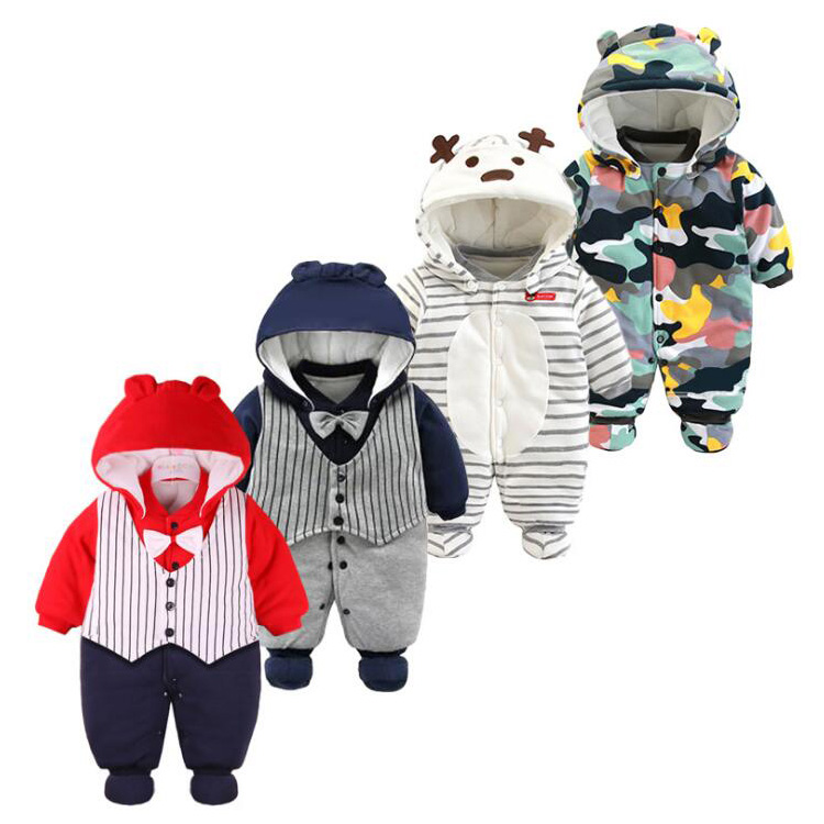 Top Fashion Baby 0-12Month Meisjes Jongens Winter Lange Mouw Rompertjes