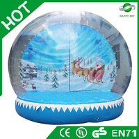 Brand New Design Hot sale christmas Snow ball, White christmas snow globe, blower for inflatable decoration