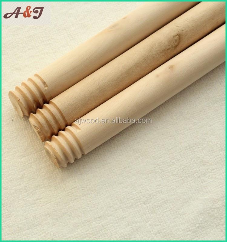 Manche /à balai en bois avec filetage 1200/mm