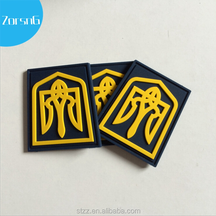Embossed 3d Logo Soft Pvc Patch/rubber Logo Patch