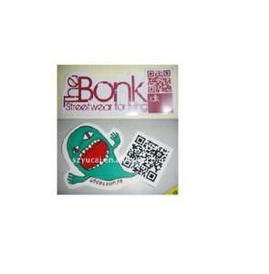 Custom funny waterproof vinyl QR code printed die cut label