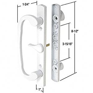 "C.R. LAURENCE C1317 CRL White 8-1/2"" Mortise-Style Handle 3-15/16"" Screw Holes C.R. Laurence"