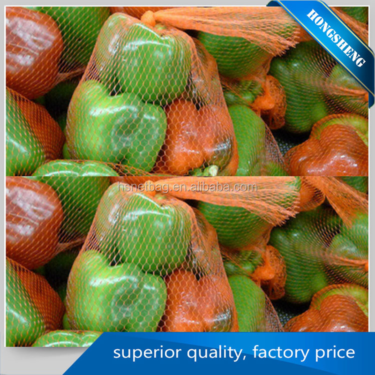 High Grade vegetable and fruit use pp mesh bag plastic