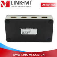 LINK-MI LM-H301-4K2K 4K HDMI switch 3x1 support 1080P with IR Remote control 4 female 1 port output
