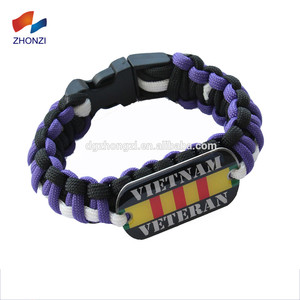 Camping Equipment China Custom Tag Paracord Bracelet With Logo