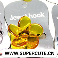 plastic crystal fower wall hook accessories