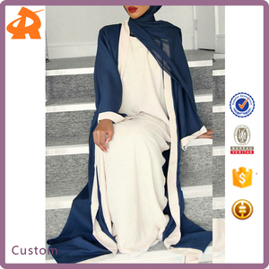 New Style Fashionable OEM Muslim Kimono Abaya Party Dress front open abaya models dubai Women Long Kaftan