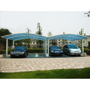 LIMELIGHT multiple section aluminium carport awning with polycarbonate glazing for public car parking shade