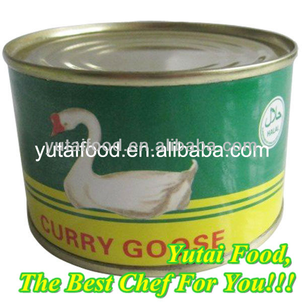 Ready to Eat Chinese Traditional Canned Curry Goose Round Food Tin Can