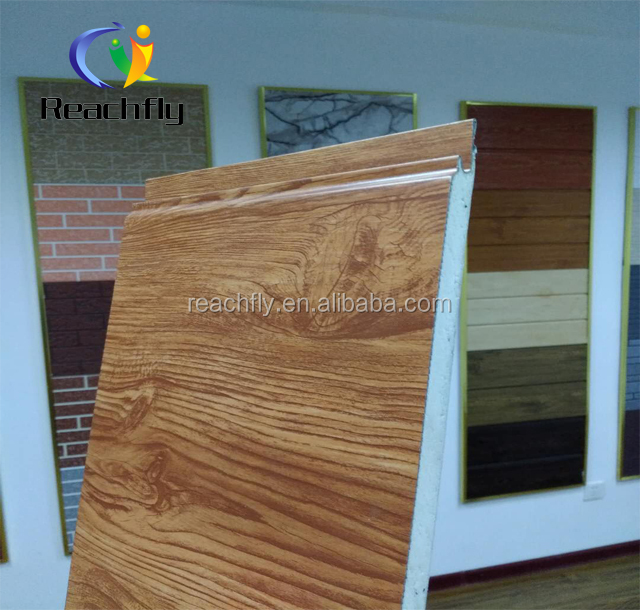 New design bark vein/ exterior wood surface, polyurethane pu decorative brick effect wall panel